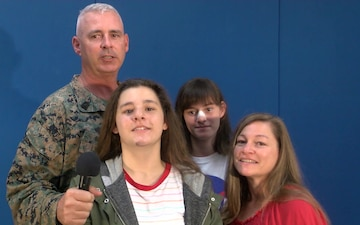 US Marine Master Gunnery Sgt. Darryl Bryan and family