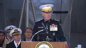Dunford Speaks at Commissioning of USS Thomas Hudner