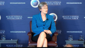 Air Force Secretary Participates in National Defense Forum Panel