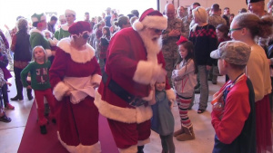 Santa visits Airmen's families at the 134th Air Refueling Wing