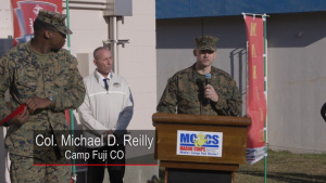 Ribbon cutting ceremony at the SMP building aboard CATC Camp Fuji