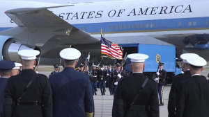 George H.W. Bush State Funeral Departure