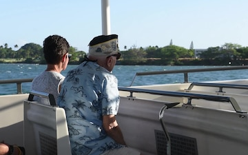 Pearl Harbor Survivor WWII Family and Friends Harbor Tour