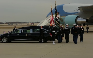 Departure ceremony at Joint Base Andrews