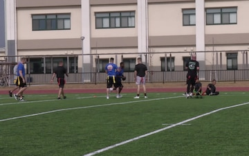 MCAS Iwakuni service members kick off the holidays on the gridiron (B-Roll)