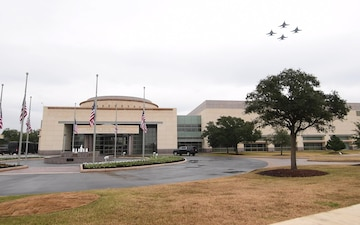 President Bush Interment Navy Flyover Video