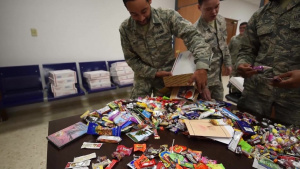 Treats 2 Troops Delivery to Airmen