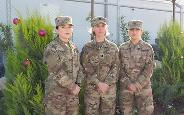 Soldiers from ASG-J sing for ARCENT holiday video