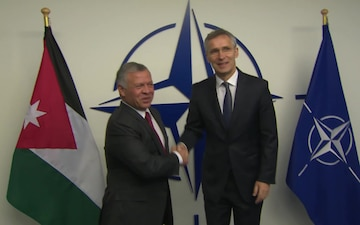 Visit to NATO by His Majesty King Abdullah II ibn Al Hussein of the Hashemite Kingdom of Jordan