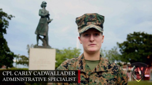 Sustaining the Transformation | Marine Pins on Corporal He Helped Recruit