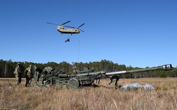 1-118th FA Conducts Sling Load Operations with 3rd ID CAB