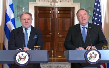 Secretary Pompeo meets with Greek Acting Minister of Foreign Affairs George Katrougalos