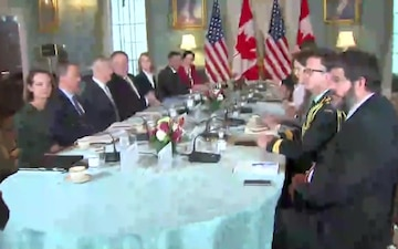 U.S. – Canada 2+2 Ministerial Meeting (camera spray)