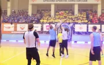 B-Roll: U.S. Soldiers Participate in a Charity Game in Romania