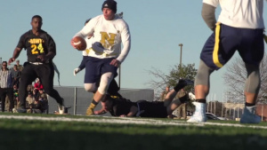 Army vs Navy Flag Football Game