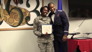 780th TS Airman surprises girlfriend with proposal at her AMOC graduation