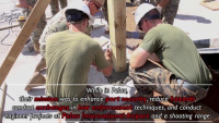 Marines and Sailors with Task Force Koa Moana help with construction in Palau