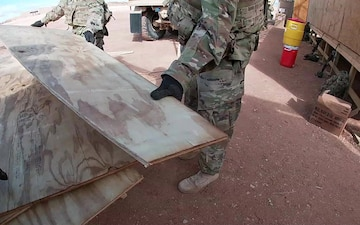 601st Engineer Detachment Fort Bliss project