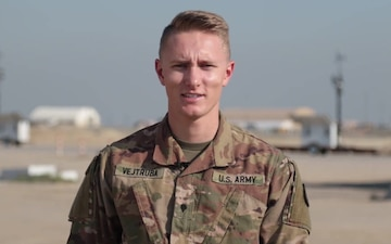 Spc. Jared Vejtruba sends holiday greetings