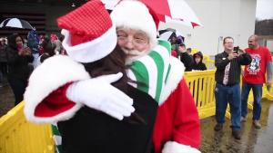 Santa arrives at Dobbins