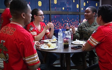 Single Marine Program hosts holiday party (Package/Pkg)
