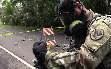 HIARNG Soldiers test air quality BROLL with Interview