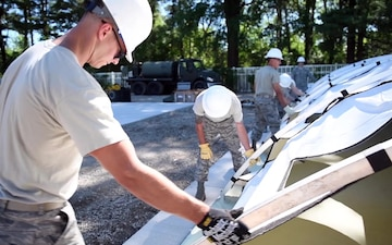 932nd AW CES Prep Tents for Youth Camp