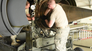 171st Maintains Fleet of KC-135 Stratotankers by Periodically Changing Engines