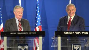 NSA Bolton, Israeli Prime Minister Netanyahu Deliver Statements to Press