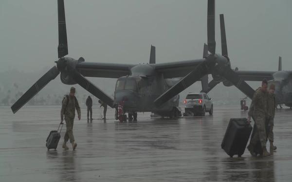 Air Force CV-22s arrive at Naval Air Station North Island