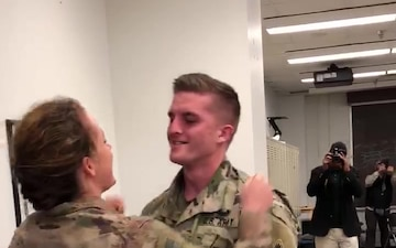Military couple reunion video