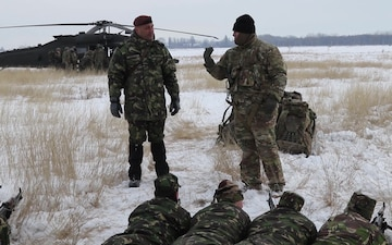 B-Roll: U.S. and Romanian soldiers undergo air assault training