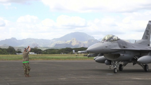 Bilateral Air Contingent Exchange - Philippines, F-16 Arrival