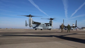 MARFORCOM Marines, Sailors experience an MV-22 Osprey Familiarization Flight with VMM-774