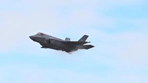F-35 Demo Team pilot practices new maneuvers