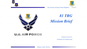81st TRG Mission Brief