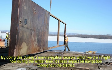 Protecting our infrastructure - winter maintenance at locks and dams