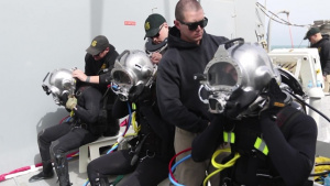 86th Engineer Dive Detachment conducts master diver evaluations