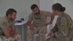 403rd Civil Affairs Battalion medics teach Italian partners Combat Lifesaver course
