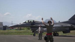 BACE-P F-16 and FA-50 Takeoffs, B-Roll