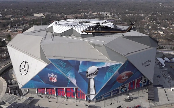 CBP Air and Marine Operations Provides Air Security for Super Bowl LIII Mercedes-Benz Stadium