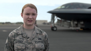 Senior Airman McCall Rafferty reflects on the Bomber Task Force