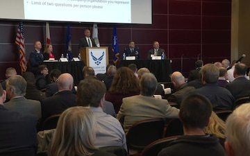 The 325th Fighter Wing and Tyndall Program Management Office host Industry Day (No Lwr 3rds)