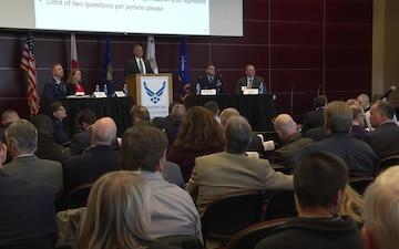 The 325th Fighter Wing and Tyndall Program Management Office host Industry Day