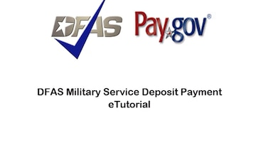 DFAS Military Service Deposit (MSD) Payment eTutorial