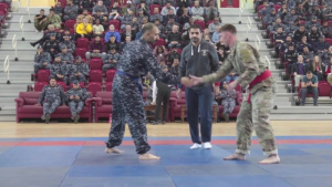 American and Kuwaiti Forces Challenge each other in Combatives Tournament
