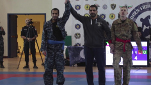 American and Kuwaiti Forces Combatives Tournament B-Roll