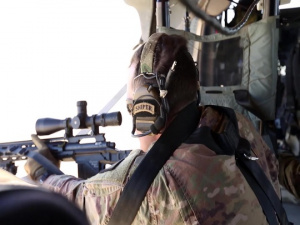 Task Force Spartan Snipers Take to the Skies