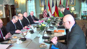 Secretary of State Michael R. Pompeo hosts a Syria Small Group Ministerial, at the Department of State
