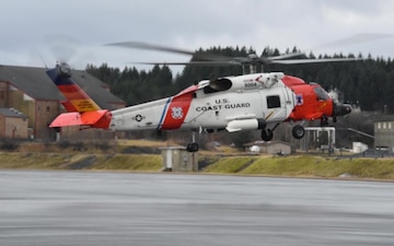 Air Station Kodiak MH-60 Jayhawk helicopter B-roll